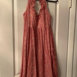 Anthropologie halter printed midi dress